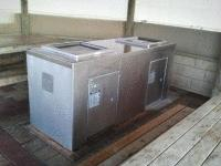 DCSS23 Double stainless steel cabinet with Queensize BBQs, set very close to beach