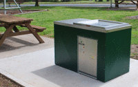 SCPC6 Single cabinet with Kingsize electric BBQ