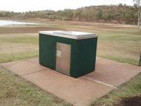 SCPC6 single cabinet with Kingsize electric BBQ, powdercoated standard Hawthorn Green