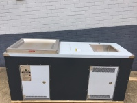 Gas BBQ cabinet with sink